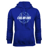 Royal Fleece Hood-2016-17 Centennial Conference Champions Mens Basketball