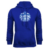 Royal Fleece Hoodie-2017 Centennial Conference Champions Womens Lacrosse