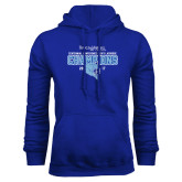 Royal Fleece Hoodie-2017 Centennial Conference Champions Mens Lacrosse
