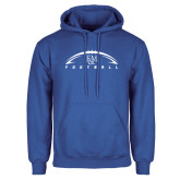 Royal Fleece Hoodie-Flat Football Design