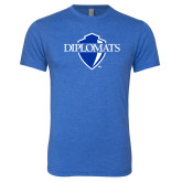 Next Level Vintage Royal Tri Blend Crew-Diplomats Official Logo