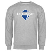 Grey Fleece Crew-Diplomats Official Logo