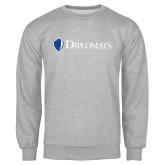 Grey Fleece Crew-Diplomats Flat Logo