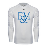 Under Armour White Long Sleeve Tech Tee-F&M