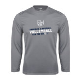 Syntrel Performance Steel Longsleeve Shirt-Volleyball Can You Dig It