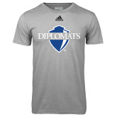 Adidas Climalite Sport Grey Ultimate Performance Tee-Diplomats Official Logo