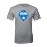 Grey T Shirt-Shield Volleyball Champions