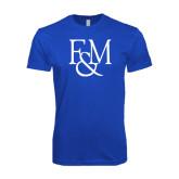 Next Level SoftStyle Royal T Shirt-F&M