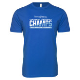 Next Level SoftStyle Royal T Shirt-2017 Centennial Conference Champions Womens Lacrosse