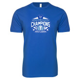 Next Level SoftStyle Royal T Shirt-2017 Centennial Conference Champions Mens Lacrosse