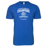 Next Level SoftStyle Royal T Shirt-2017 Centennial Conference Champions Mens Golf