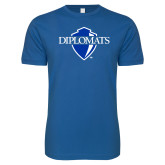 Next Level SoftStyle Royal T Shirt-Diplomats Official Logo