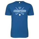 Next Level SoftStyle Royal T Shirt-2017 Field Hockey Champions