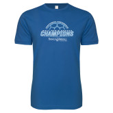 Next Level SoftStyle Royal T Shirt-2017 Mens Soccer Champions