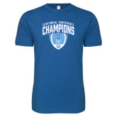 Next Level SoftStyle Royal T Shirt-2017 Football Champions Stacked w/ Football Vertical