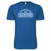 Next Level SoftStyle Royal T Shirt-2017 Football Champions Stacked w/ Football