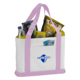 Contender White/Pink Canvas Tote-Diplomats Official Logo
