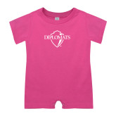 Bubble Gum Pink Infant Romper-Diplomats Official Logo