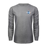 Grey Long Sleeve T-Shirt-Diplomats Official Logo