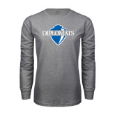 Grey Long Sleeve T Shirt-Diplomats Official Logo
