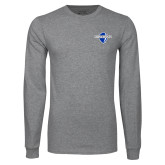 Grey Long Sleeve T Shirt-Diplomats Official Logo