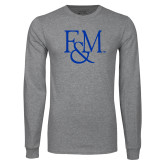 Grey Long Sleeve T Shirt-F&M