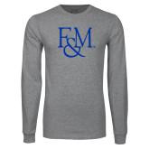 Grey Long Sleeve T Shirt-F&M