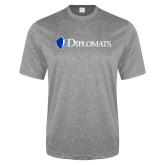 Performance Grey Heather Contender Tee-Diplomats Flat Logo