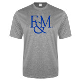 Performance Grey Heather Contender Tee-F&M