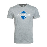 Next Level SoftStyle Heather Grey T Shirt-Diplomats Official Logo