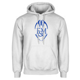 White Fleece Hood-Tall Football Design