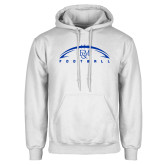 White Fleece Hood-Flat Football Design