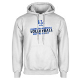 White Fleece Hood-Volleyball Can You Dig It