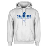 White Fleece Hoodie-2017 Football Champions
