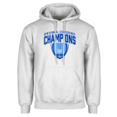 White Fleece Hoodie-2017 Football Champions Stacked w/ Football Vertical