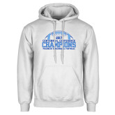 White Fleece Hoodie-2017 Football Champions Stacked w/ Football