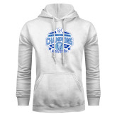 White Fleece Hood-2017 Centennial Conference Champions Womens Lacrosse