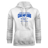 White Fleece Hood-2017 Centennial Conference Champions Mens Lacrosse