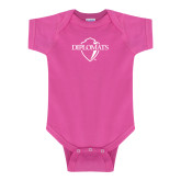 Fuchsia Infant Onesie-Diplomats Official Logo