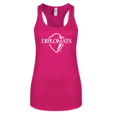 Next Level Ladies Raspberry Ideal Racerback Tank-Diplomats Official Logo