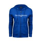 ENZA Ladies Royal Fleece Full Zip Hoodie-Franklin & Marshall