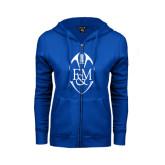 ENZA Ladies Royal Fleece Full Zip Hoodie-Tall Football Design