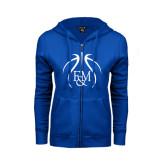 ENZA Ladies Royal Fleece Full Zip Hoodie-Logo in Ball
