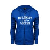 ENZA Ladies Royal Fleece Full Zip Hoodie-Diplomats Soccer