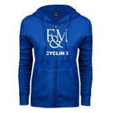 ENZA Ladies Royal Fleece Full Zip Hoodie-Franklin & Marshall Cycling