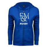 ENZA Ladies Royal Fleece Full Zip Hoodie-Franklin & Marshall Rugby