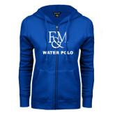 ENZA Ladies Royal Fleece Full Zip Hoodie-Franklin & Marshall Water Polo