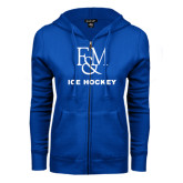 ENZA Ladies Royal Fleece Full Zip Hoodie-Franklin & Marshall Ice Hockey