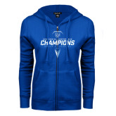 ENZA Ladies Royal Fleece Full Zip Hoodie-2017 Centennial Conference Champions Womens Lacrosse
