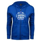 ENZA Ladies Royal Fleece Full Zip Hoodie-2017 Centennial Conference Champions Mens Lacrosse